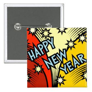 Happy New Year Pin
