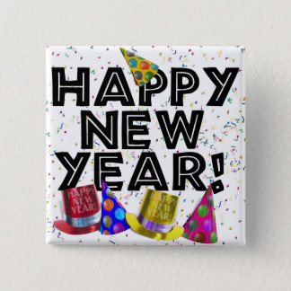HAPPY NEW YEAR! PINBACK BUTTON