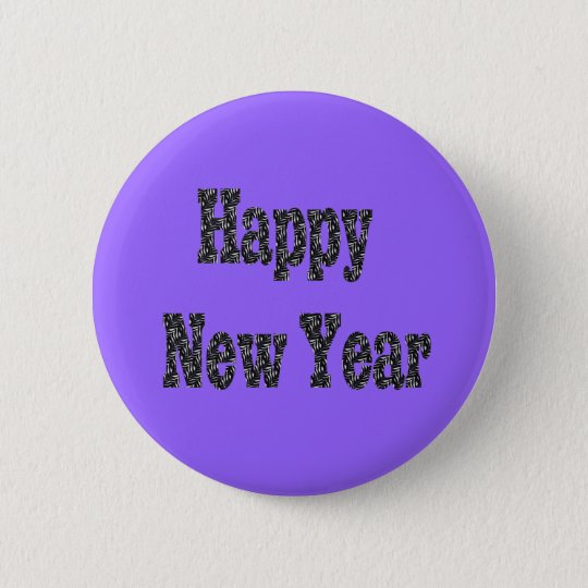 happy new year pinback button