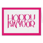 Happy New Year pink Card
