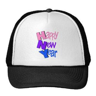 Happy New Year Pink Purple Blue Trucker Hat