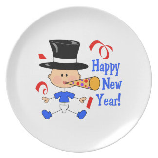HAPPY NEW YEAR DINNER PLATES