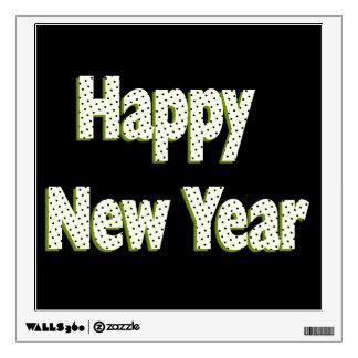 Happy New Year polka dots Room Graphics