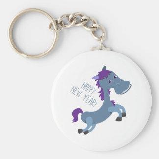 Happy New Year Pony Key Chains