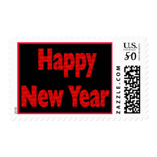 happy new year postage