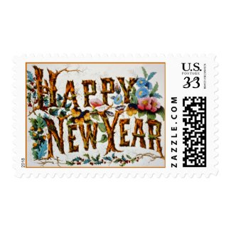 Happy New Year! - Postage #2 stamp