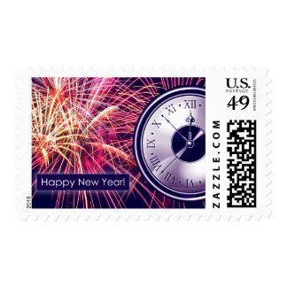 Happy New Year. Postage Stamps