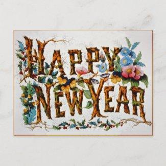 Happy New Year! - Postcard postcard