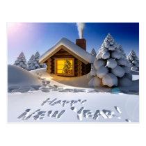 happy new year postcard