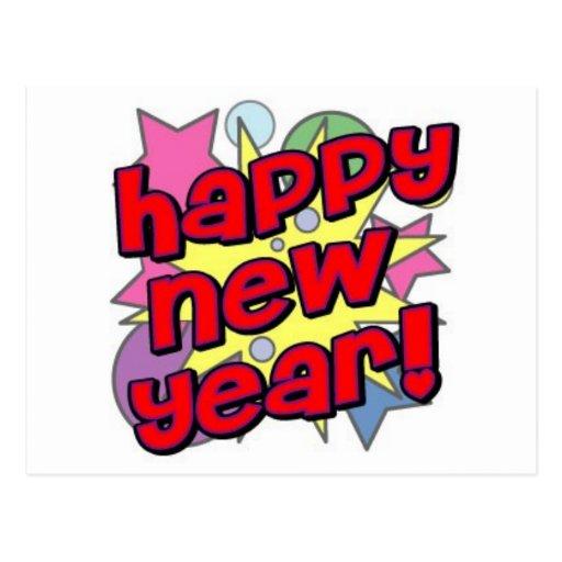 Happy New Year! Postcards