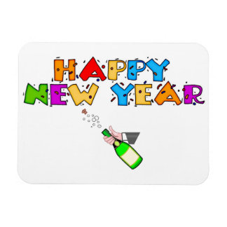 Happy New Year Rectangular Magnets
