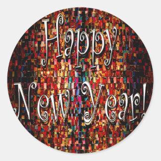 Happy New Year Products Round Sticker