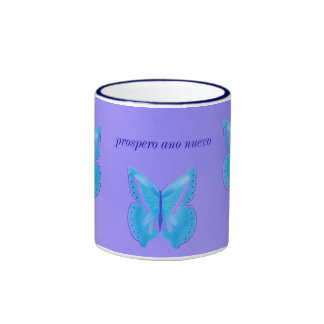 Happy New Year/prospero ano nuevo Ringer Coffee Mug