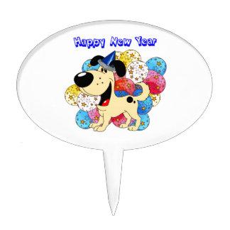 Happy New Year Pup! Cake Picks