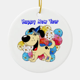Happy New Year Pup! Christmas Ornaments