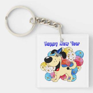 Happy New Year Pup! Keychain