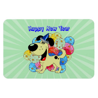 Happy New Year Pup! Magnet