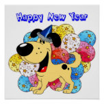 Happy New Year Pup! Print