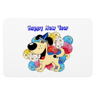 Happy New Year Pup! Rectangular Magnets