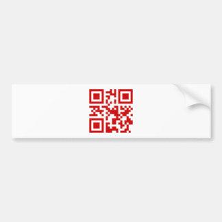 Happy New Year! -- QR Code Bumper Sticker