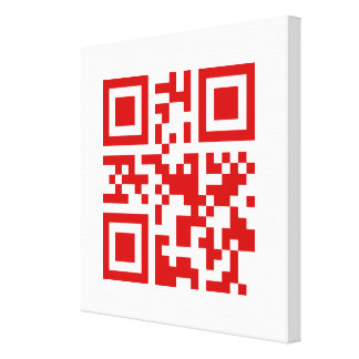 Happy New Year! -- QR Code Canvas Print