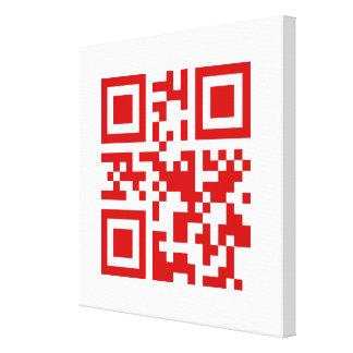 Happy New Year! -- QR Code Canvas Print