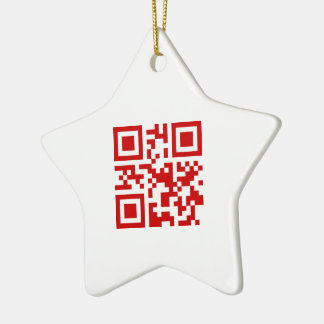 Happy New Year! -- QR Code Ceramic Ornament