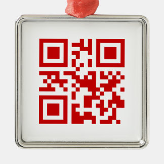 Happy New Year! -- QR Code Metal Ornament