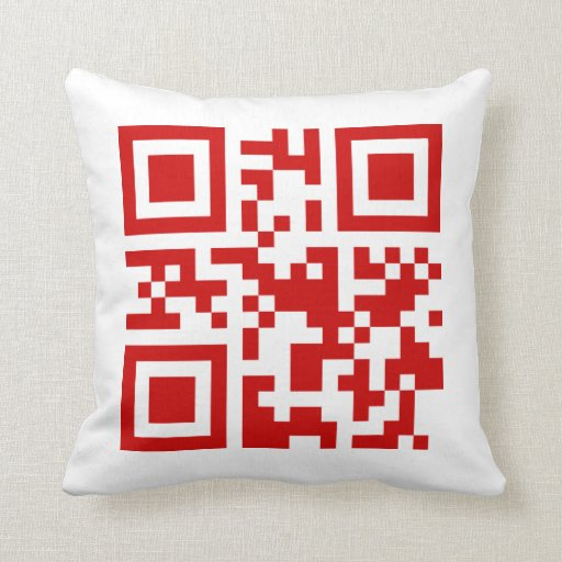 Happy New Year! -- QR Code Pillow