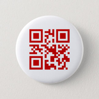 Happy New Year! -- QR Code Pinback Button