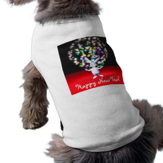 Happy New Year Rabbit and Fireworks Tee