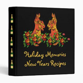 Happy New Year Rabbits Binder