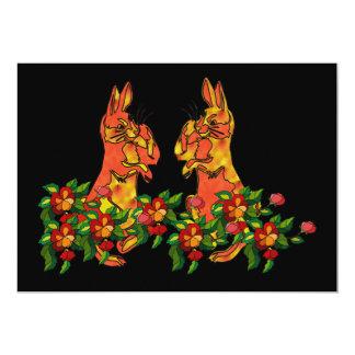 Happy New Year Rabbits Card