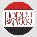 Happy New Year red Sticker