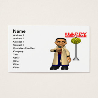 Happy New Year Reporter Business Card