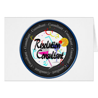 Happy New Year Resolution Consultant Card