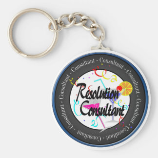 Happy New Year Resolution Consultant Keychain