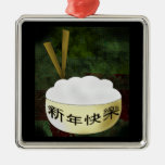 Happy New Year Rice Bowl Christmas Ornaments