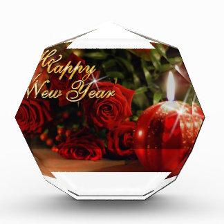 Happy New Year Roses Acrylic Award