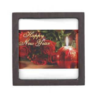 Happy New Year Roses Gift Box