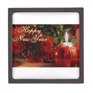 Happy New Year Roses Jewelry Box