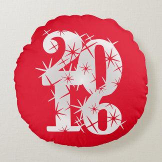 Happy New Year Round Pillow