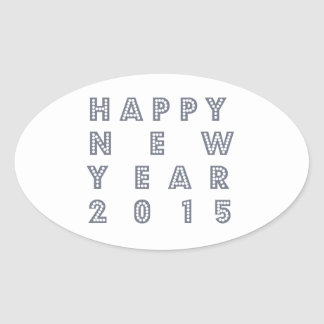 Happy new year´s eve 2015 oval sticker
