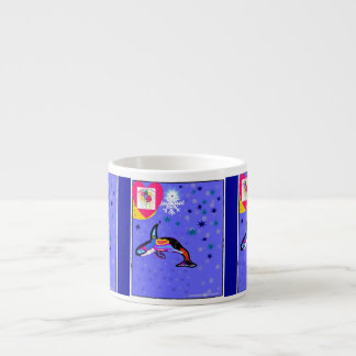Happy New Year s Rainbow Whale espresso mug
