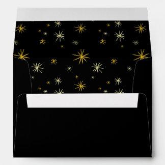 Happy New Year Script Starburst Holiday Envelope