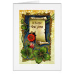 Happy New Year Scroll Greeting Cards