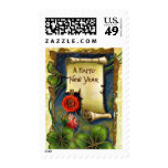 Happy New Year Scroll Stamp