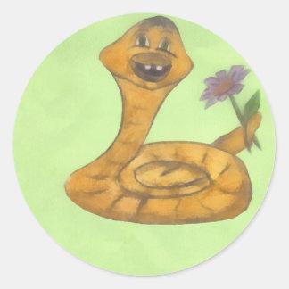 Happy New Year,serpent Classic Round Sticker