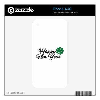 Happy New Year shamrock iPhone 4 Skin