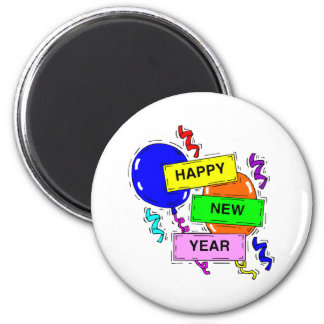 Happy New Year Sign Magnet